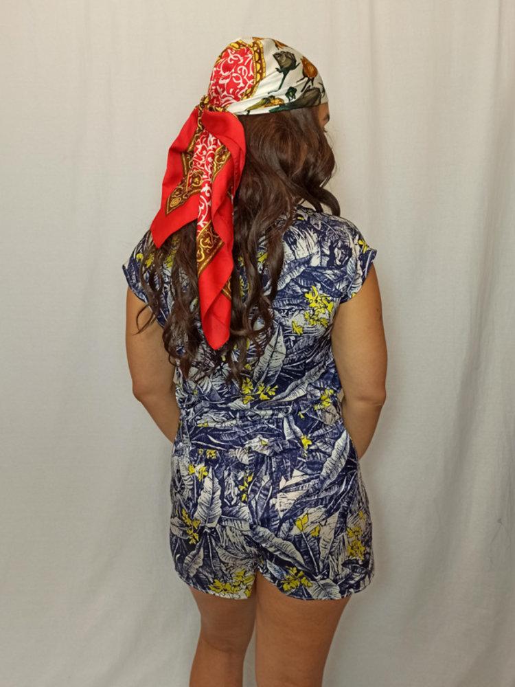 Primark Tropical playsuit - blauw geel
