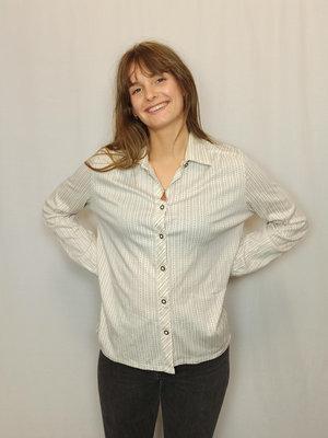 Vintage Zijden blouse - off-white