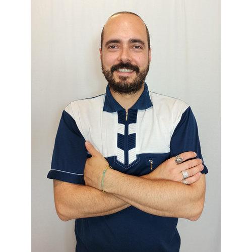 Zara Crab polo T-shirt - dark blue