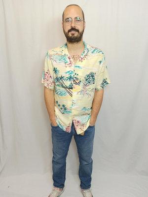 H&M Hawaii blouse - pastel yellow
