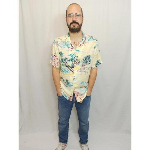 H&M Hawaï blouse - pastel geel