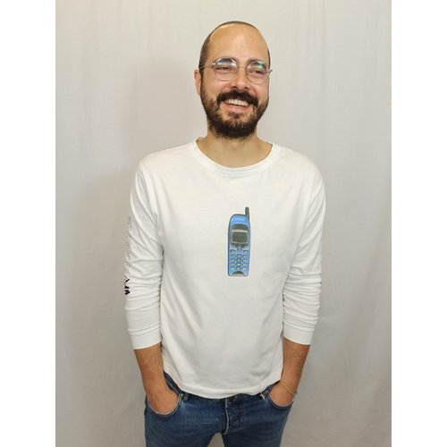 Zara Trafaluc Phone longsleeve t-shirt - white