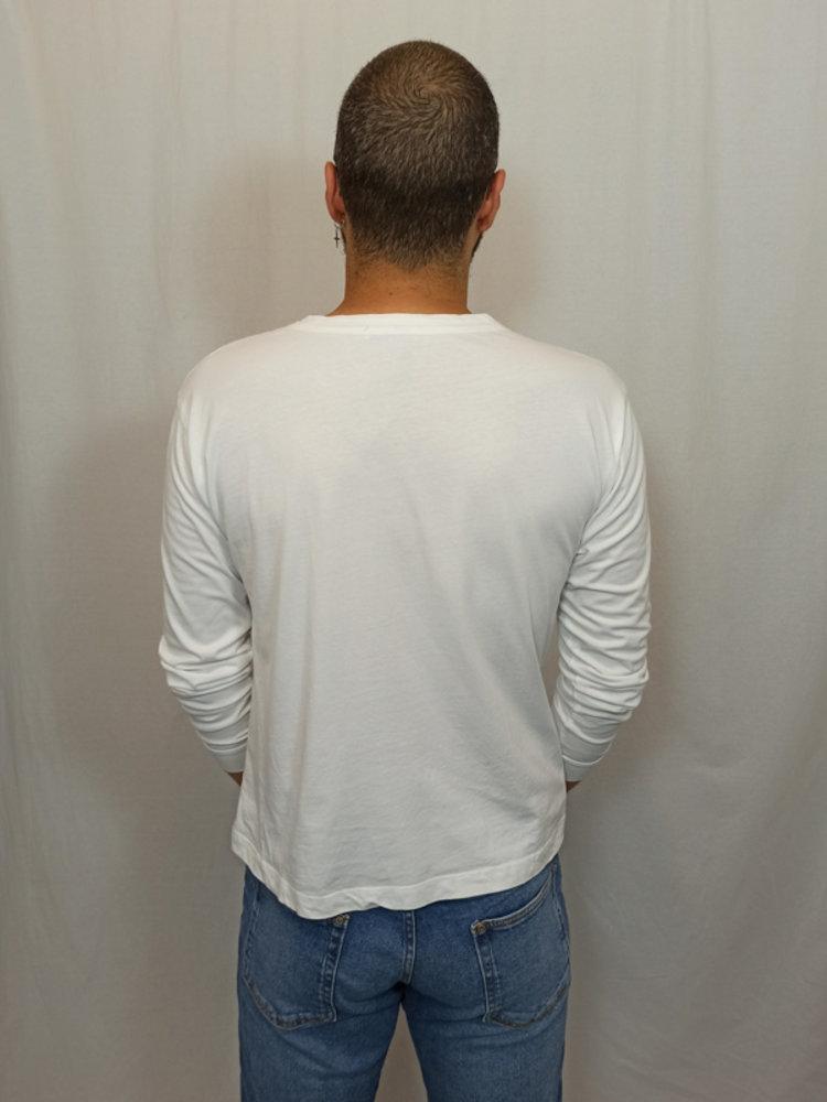 Zara Trafaluc Telefoon longsleeve T-shirt - wit