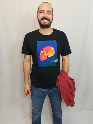 Zara Doodshoofd T-shirt - zwart