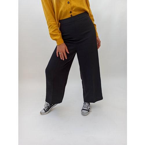 Wide leg black culotte pants