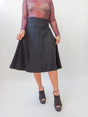 Vanilla Black clocking skirt