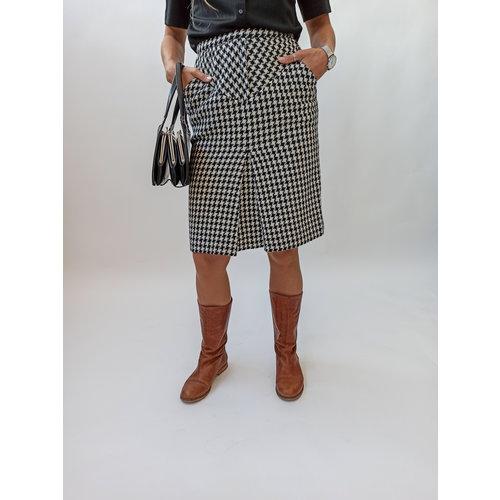 Unknown Black white checkered skirt