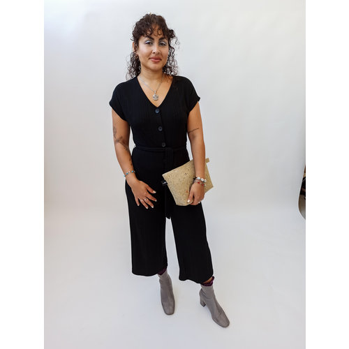 Bershka Black jumpsuit with buttons