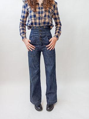 Unknown Handgemaakte high waist jeans