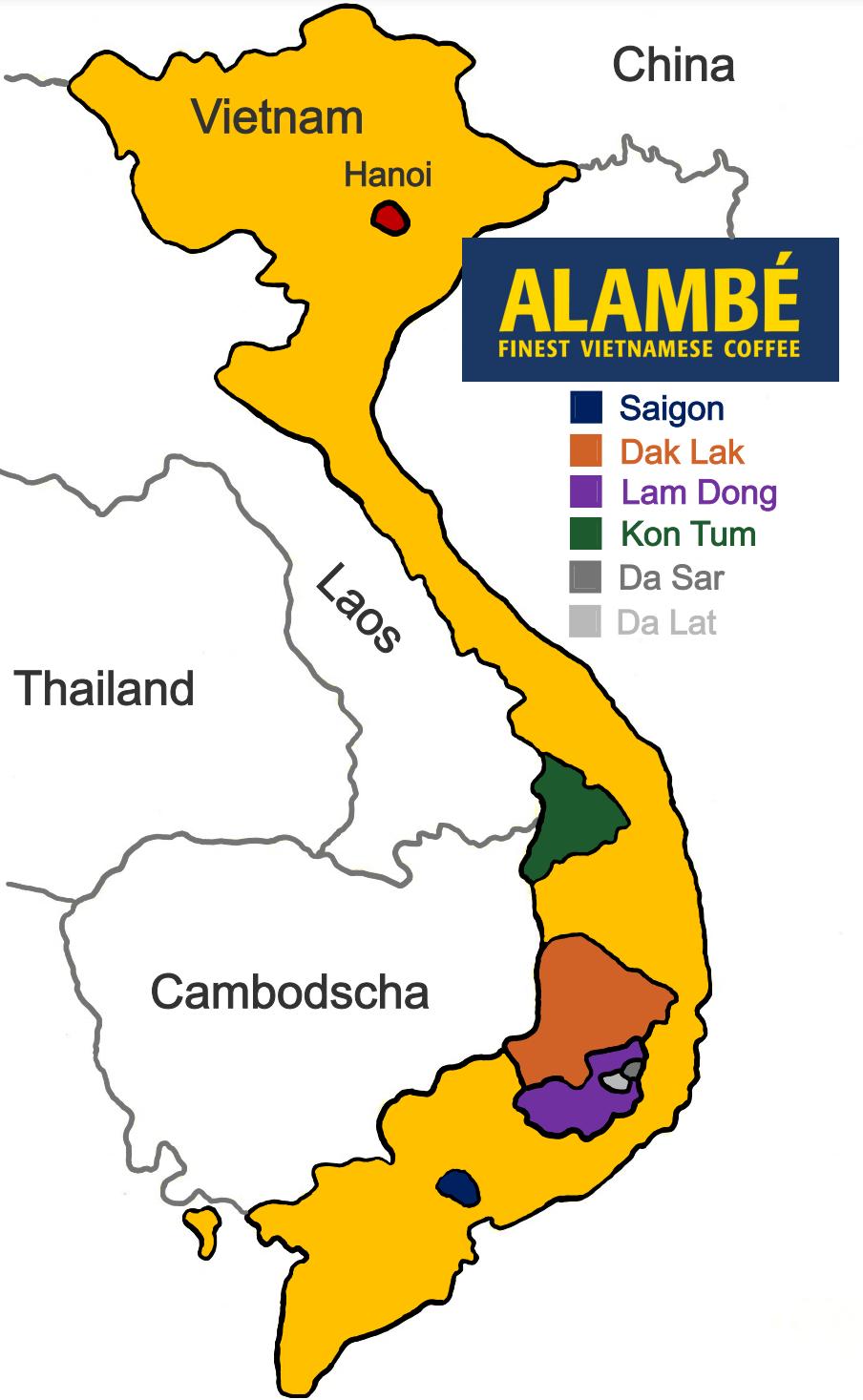 Vietnam Alambé Map
