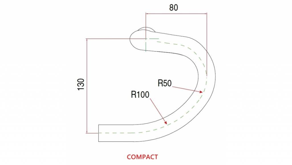HB-RA002 Carbon compact handlebar