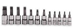 "12 pc 1/4"" and 3/8"" Drive TORX® Socket Set"