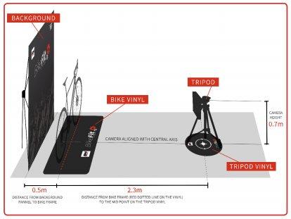 2D BikeFit measuring systeem