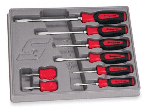8 delige Combinatie Instinct® Soft Grip Red schroevendraaier set