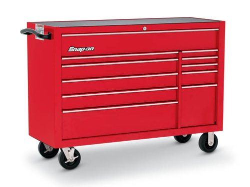 Roll Cab, Double Bank, 11 Drawers, Red