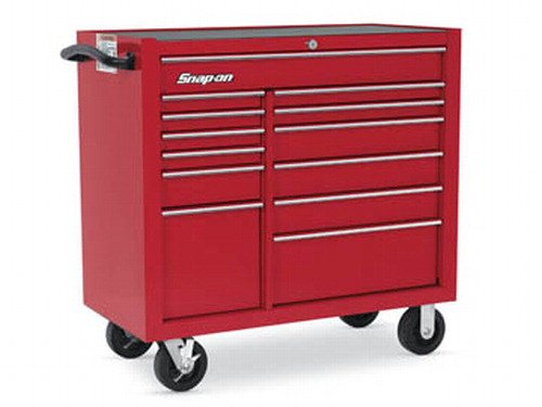 Roll Cab, 13 Drawers, Red