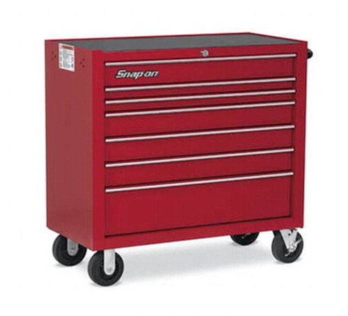 Roll Cab, 7 Drawers, Red