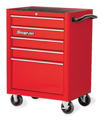 Roll Cab, Single Bank, 5 drawers, Red