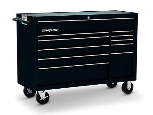 Roll Cab, Double Bank, 11 Drawers, Gloss Black