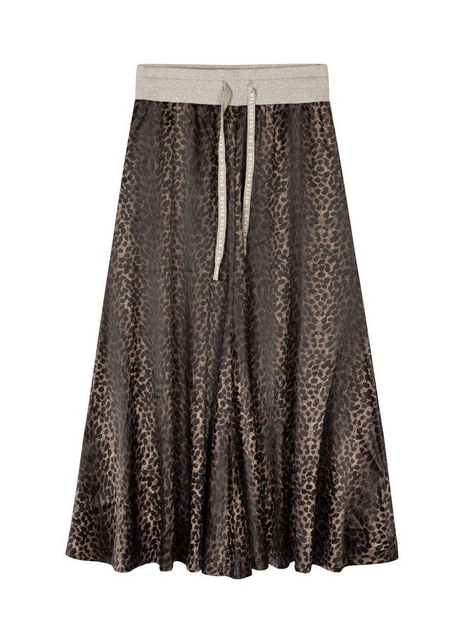 Skirt leopard camo desert taupe