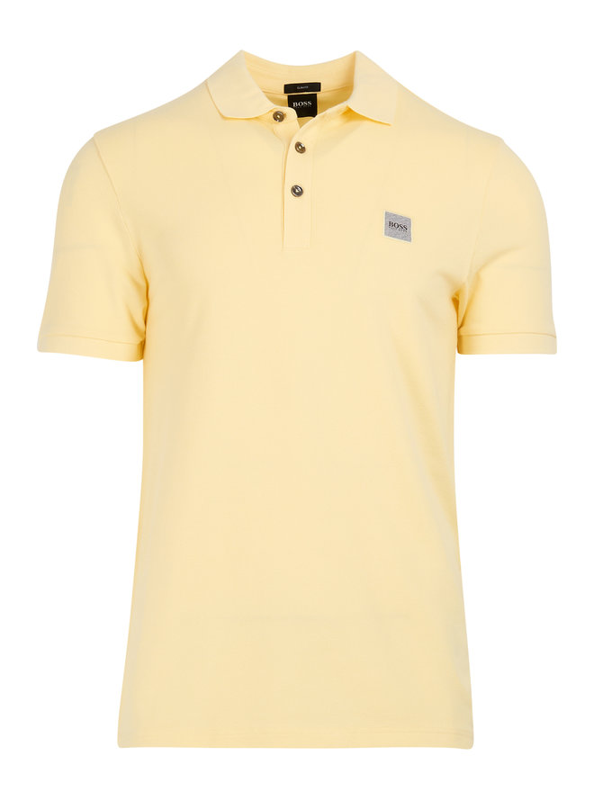 Passenger polo slim fit light pastel yellow