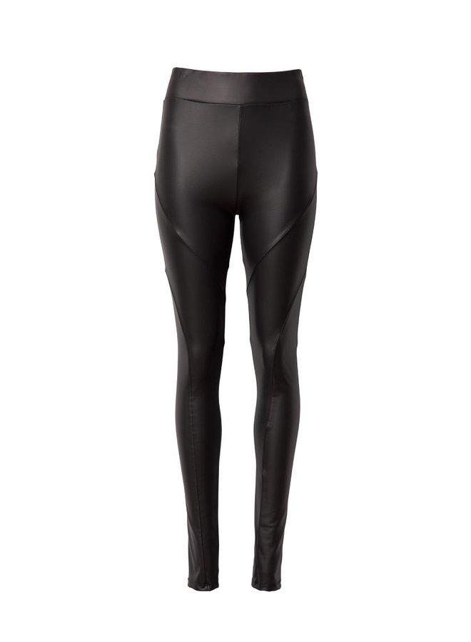 Leatherlook legging black