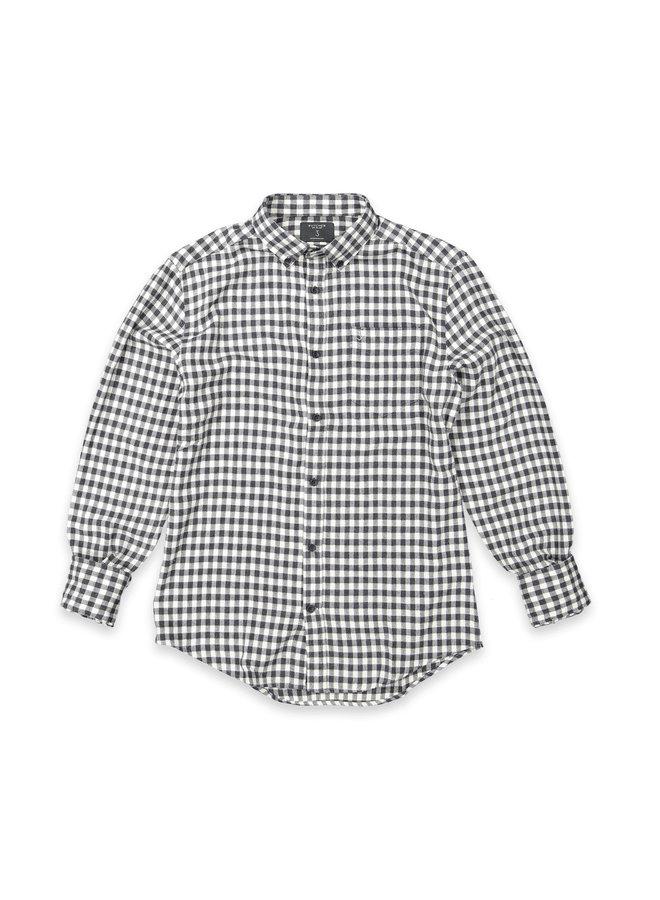 Robbins shirt micro check geyser Grey