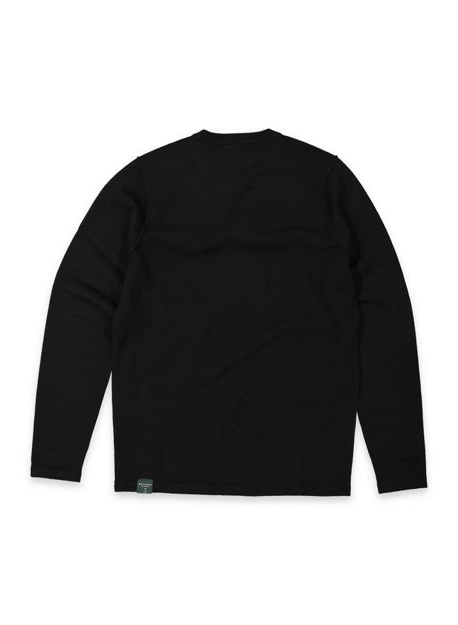 Clifden crew knit off Black
