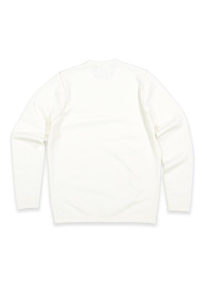 Clifden knit crew light Ivory
