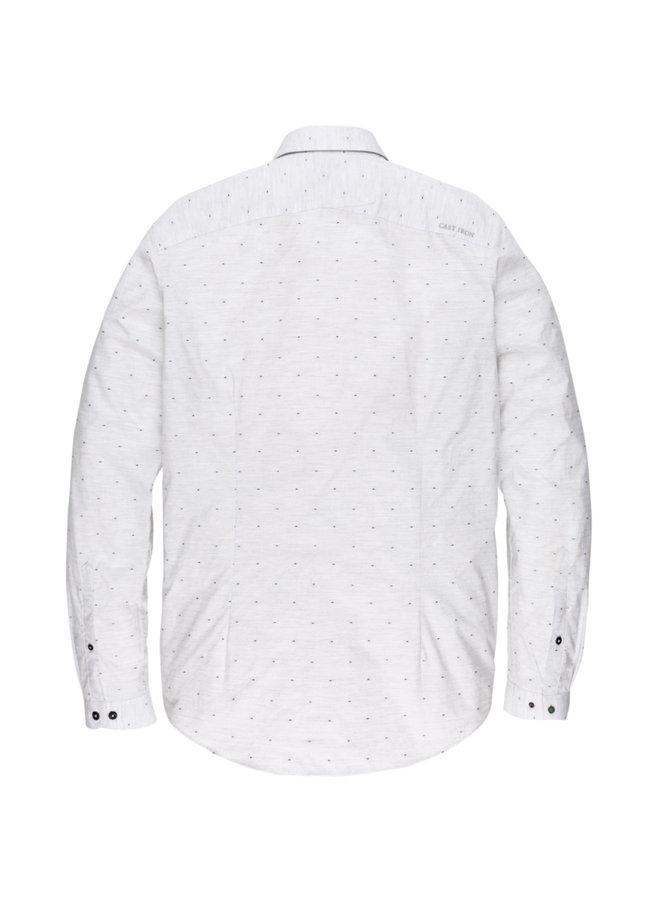 Long Sleeve Shirt Ctn Cut Away Dot Light Grey