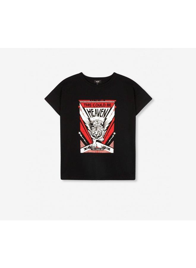 Tiger t-shirt s/s black