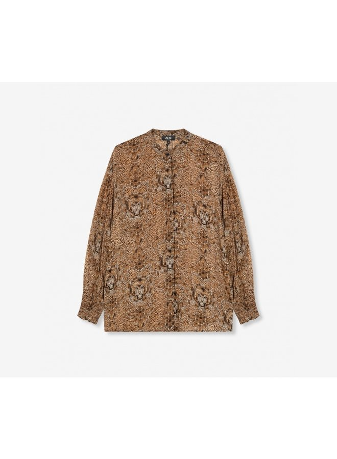 Animal crepe blouse 204920620