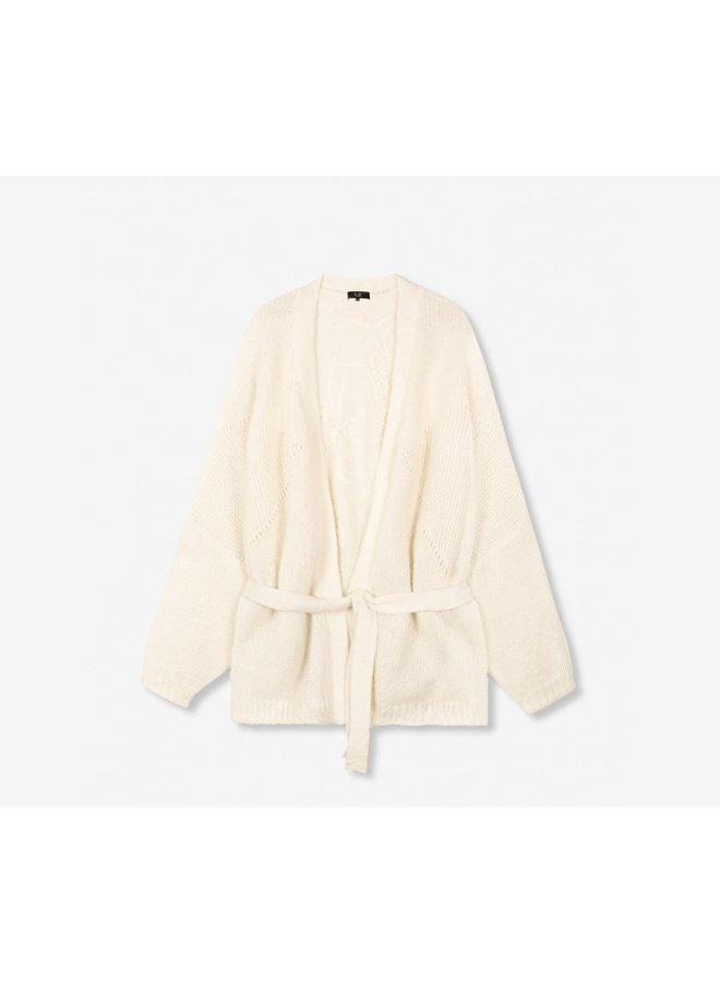 Oversized cardigan soft white