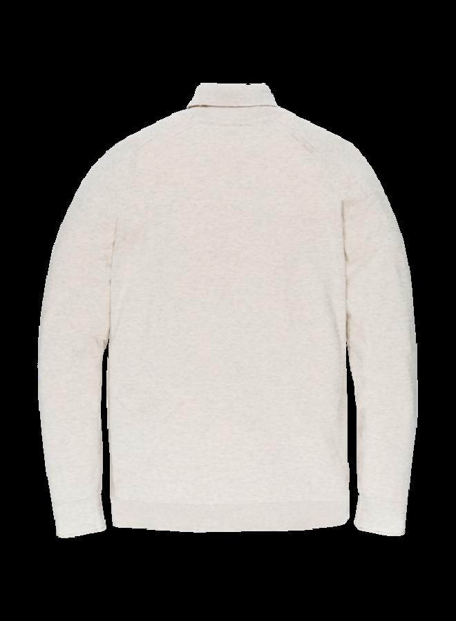 Roll neck cotton melange plated Birch - CKW206321-7011