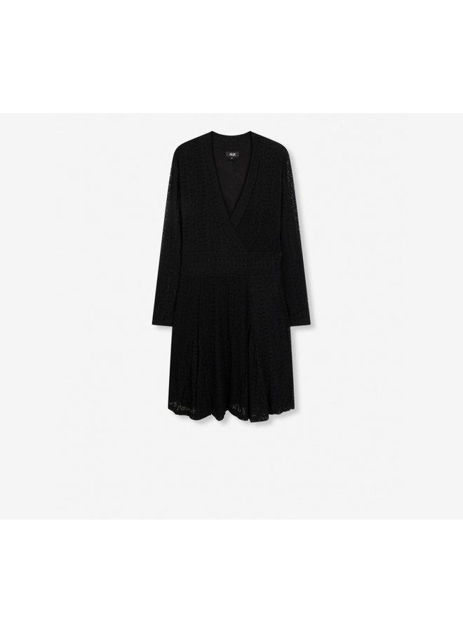 Lace dress black - 204312626-999