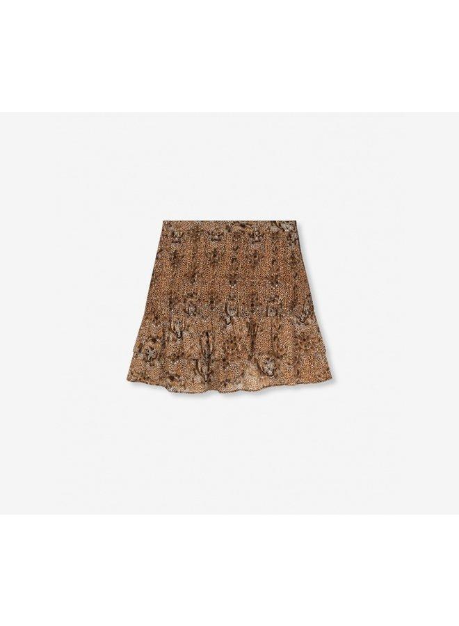 Animal crepe skirt