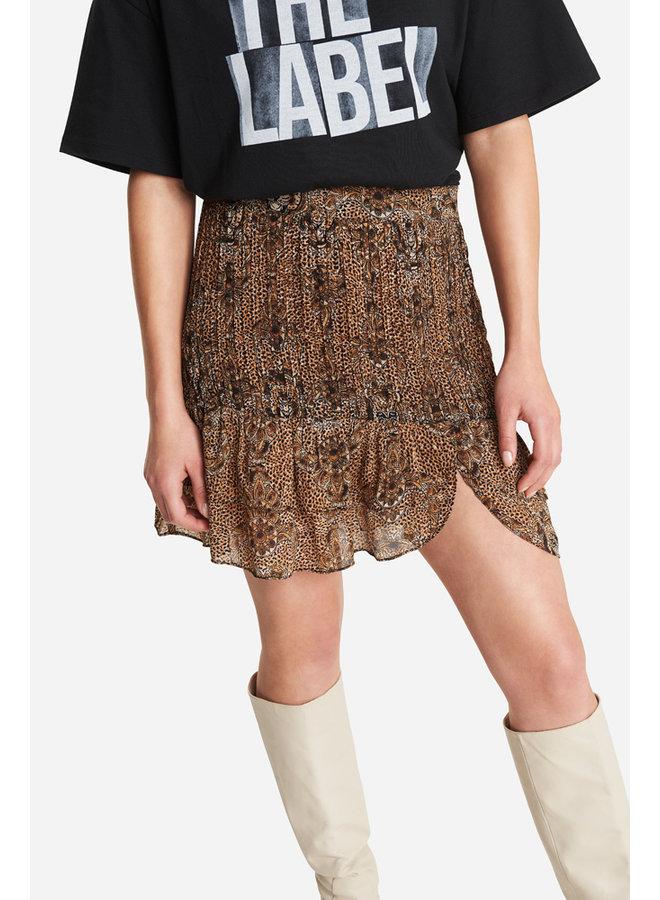 Animal crepe skirt - 204220618-601
