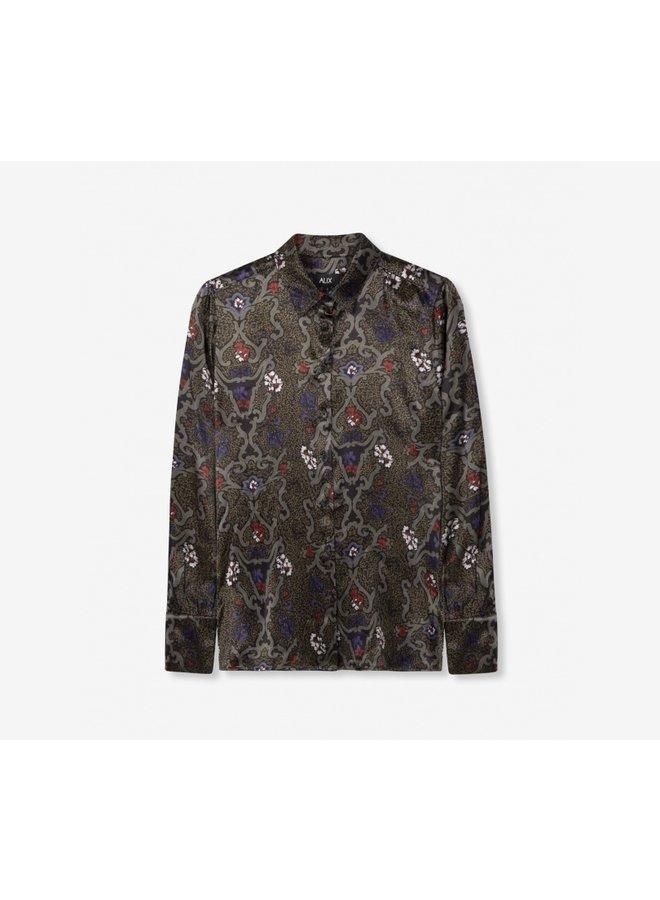 Satin blouse black