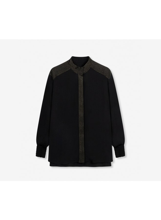 Oversized blouse black - 197950376-999