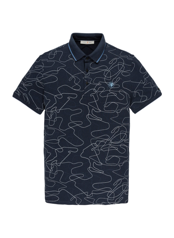 Short sleeve polo Pique Stretch Dress Blues - CPSS203876-5118