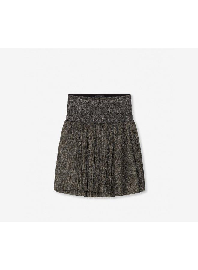 Mesh skirt gold