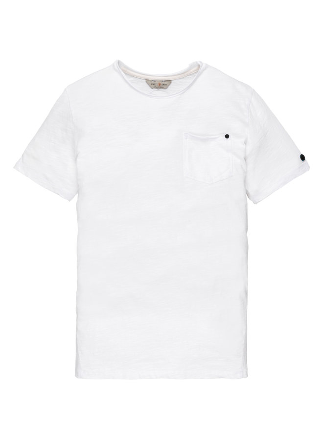 R-neck Slub Jersey Bright White - CTSS202256-7003