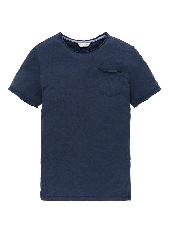 R-neck tee Slub Jersey Dress Blues