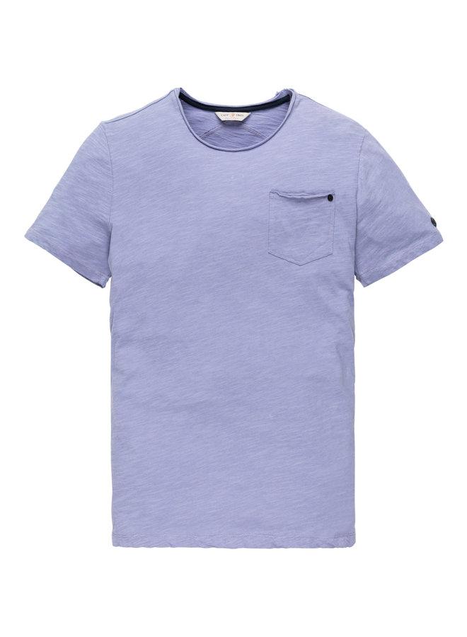R-neck tee Slub Jersey Persian Violet
