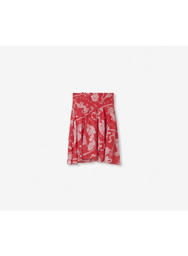 Graphic skirt soft coral - 191237097-302