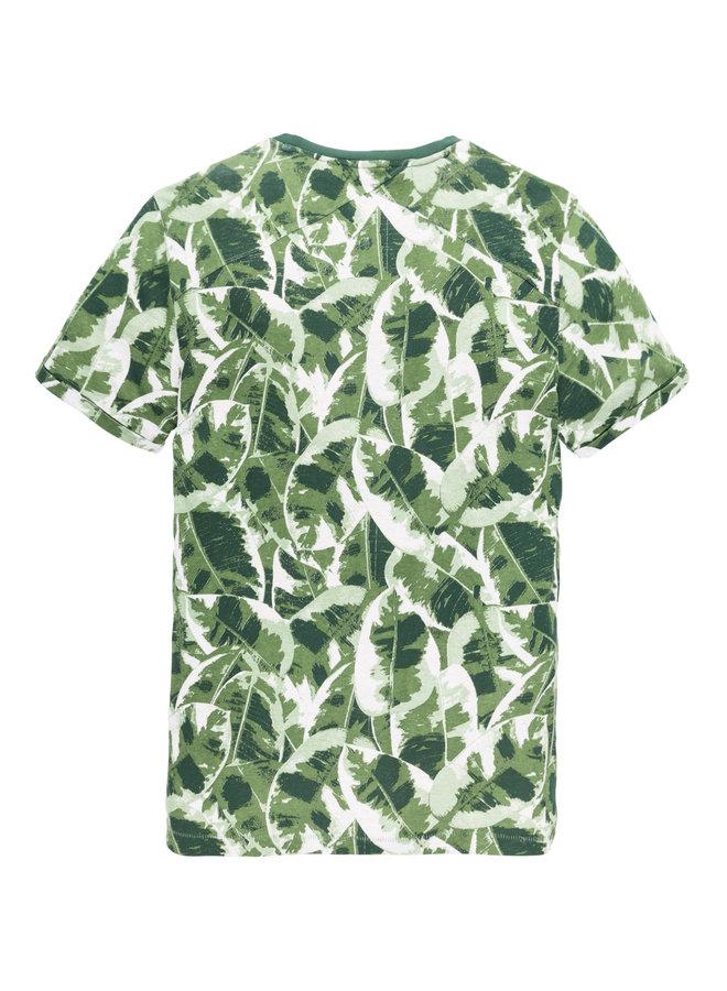 R-neck tee Leaf Camo AOP Jersey Comfrey - CTSS193307-6129