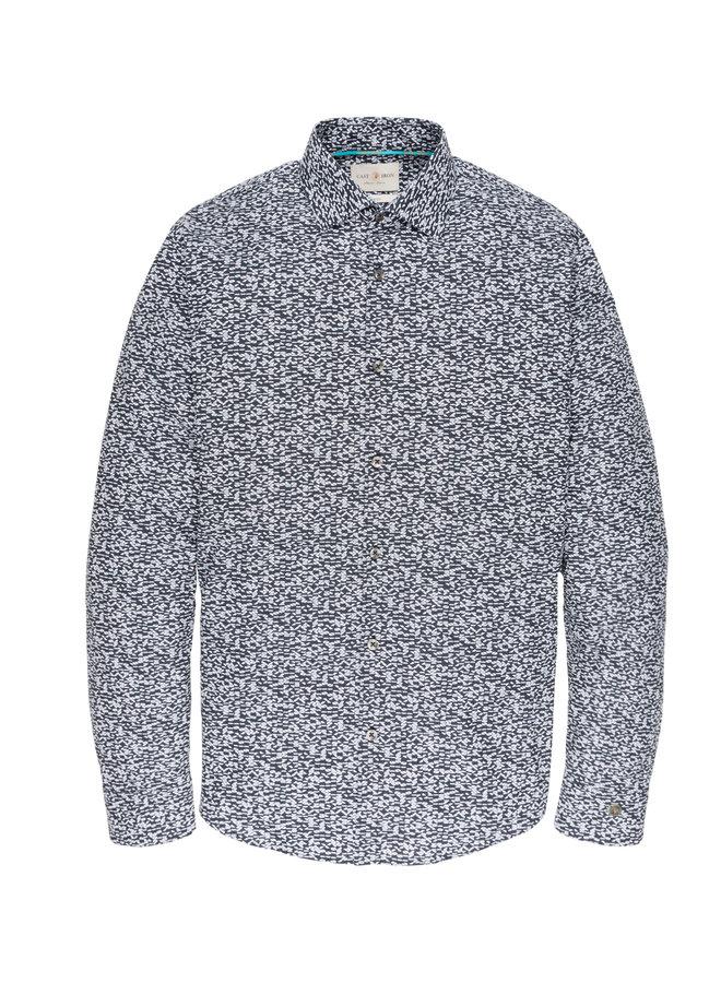 Long Sleeve Shirt CF PRINT Dress Blues - CSI196631-5118