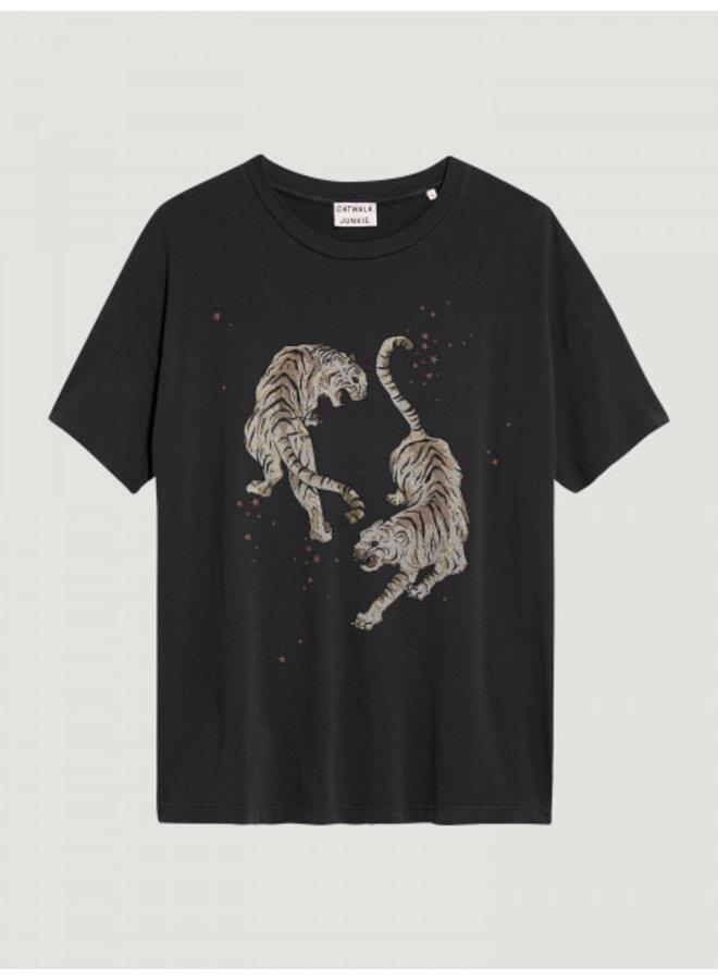 T-shirt tigre dark grey