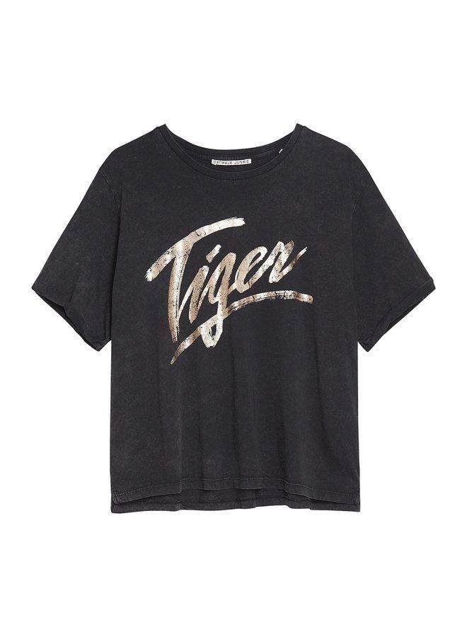 T-shirt tiger dark grey