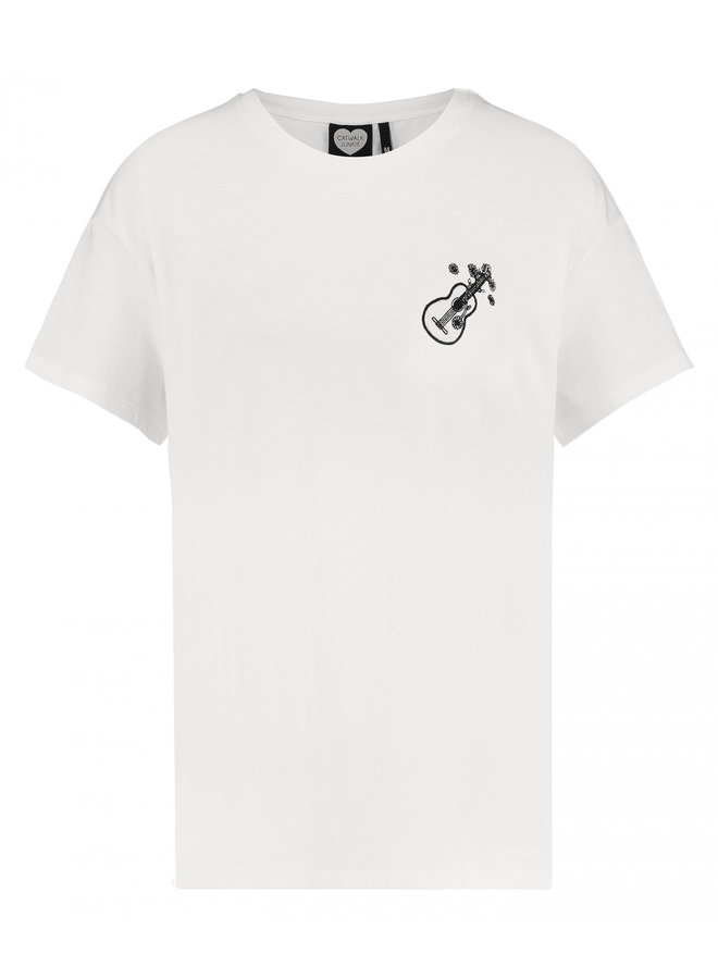 T-shirt love song off white